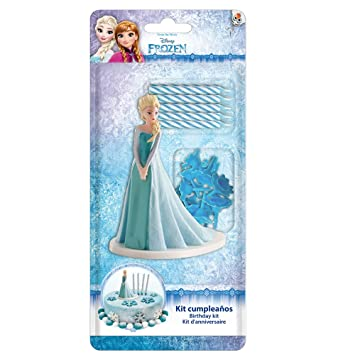 Dekora - Figura Frozen para Tartas con 5 Velas de Cumpleaños ...