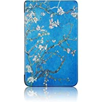 Vertily Leather Cover Painted Flat Shell Cover Case for Amazon All Kindle 10Th Generation 2019 Tablet Case, Full Body Protective Case Dust-Proof Collision Magnetic Leather Flip Stand Cover Case