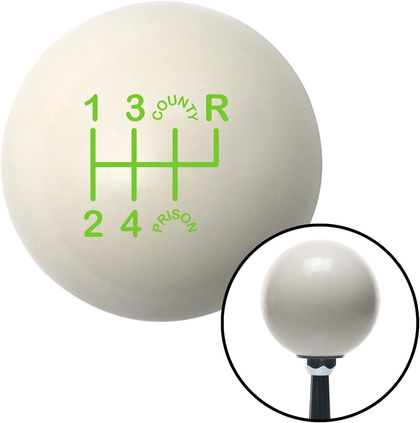 Green Shift Pattern CP26n American Shifter 76943 Ivory Shift Knob with M16 x 1.5 Insert