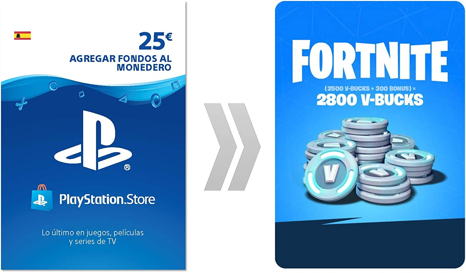 PSN credit para Fortnite - 4.000 V-Bucks + 1.000 V-Bucks - 5.000 V ...