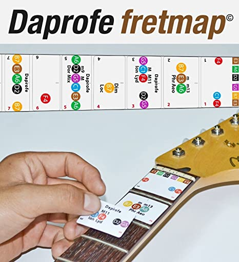 daprofe Fretboard Nota Mapa mano derecha Guitarra Eléctrica ...
