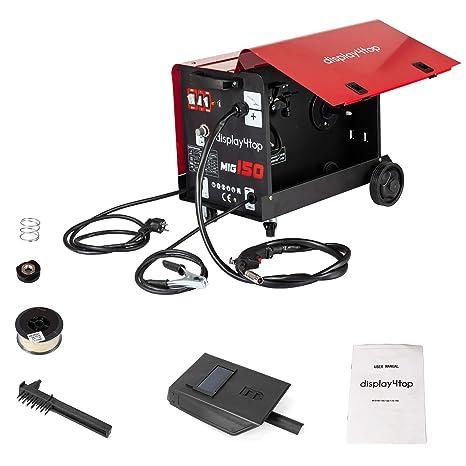Display4top Soldador hilo continuo sin gas MIG 150 230V Máquina de Soldadora Aparato Eléctrico de Soldadura