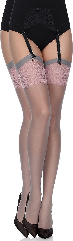 Antie Womens 20 DEN Suspender Stockings A4001