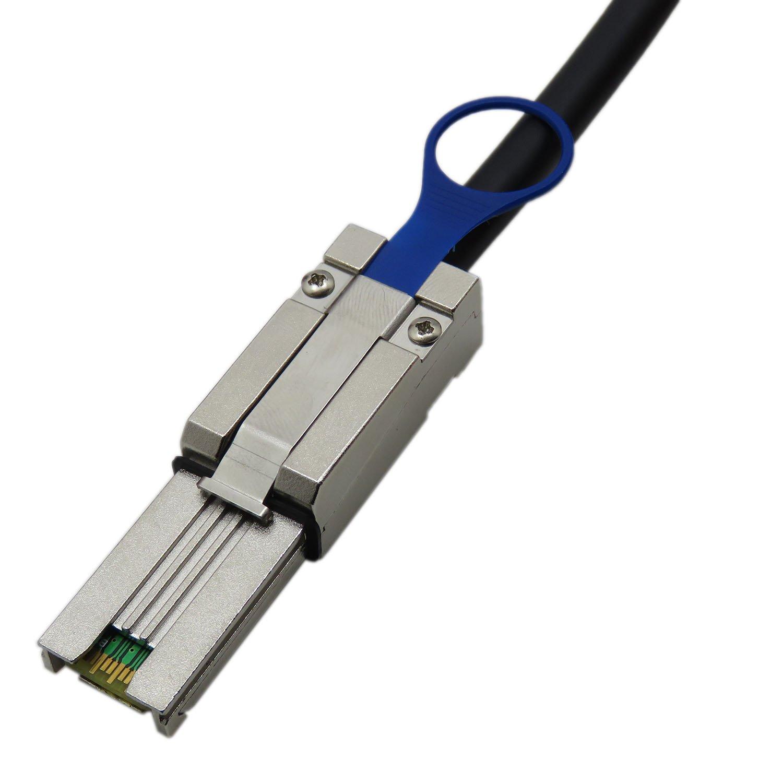 YIWENTEC Mini-SAS SFF-8088 26P to 4 X SAS SFF-8482 29 Pin con Cable de alimentaci/ón G0106-1M