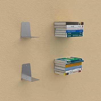diseo de estantera invisible de aluminio estante para libros suspendida