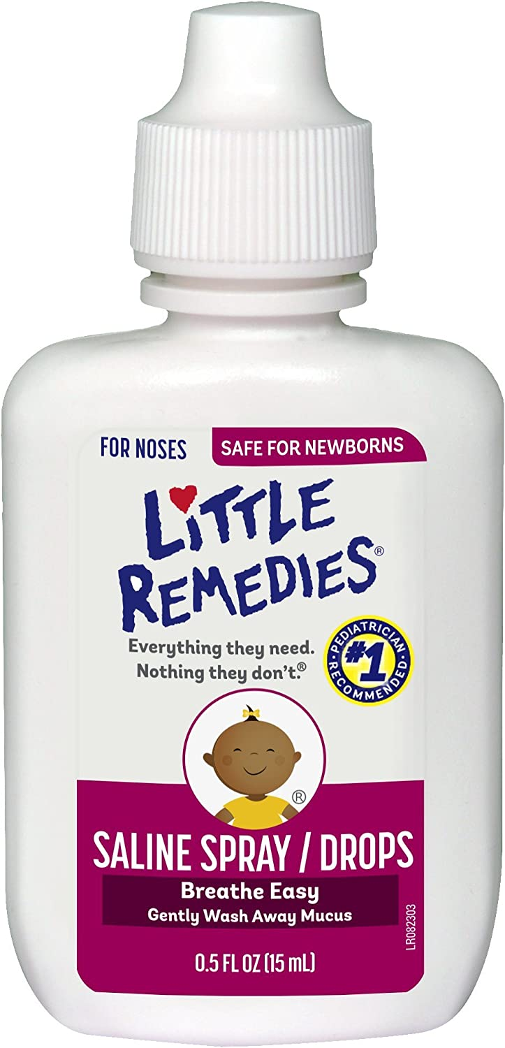 Little Remedies Saline Spray and Drops | Safe for Newborns | 0.5 Fl Oz (Pack of 1)
