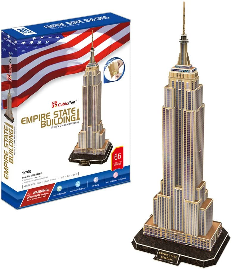 CubicFun CHRYSLER BUILDING USA 3D Puzzle NEW
