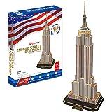 CubicFun MC048h-2 US Empire State Building New York World's Great Architectures 3d Puzzle, 66 Pieces