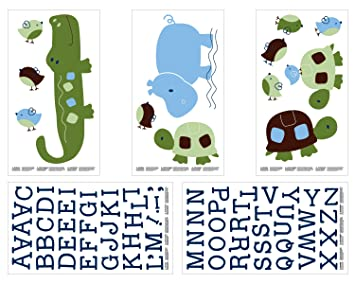 NoJo Alligator Blues Wall Decals  sc 1 st  Amazon.com & Amazon.com : NoJo Alligator Blues Wall Decals : Baby