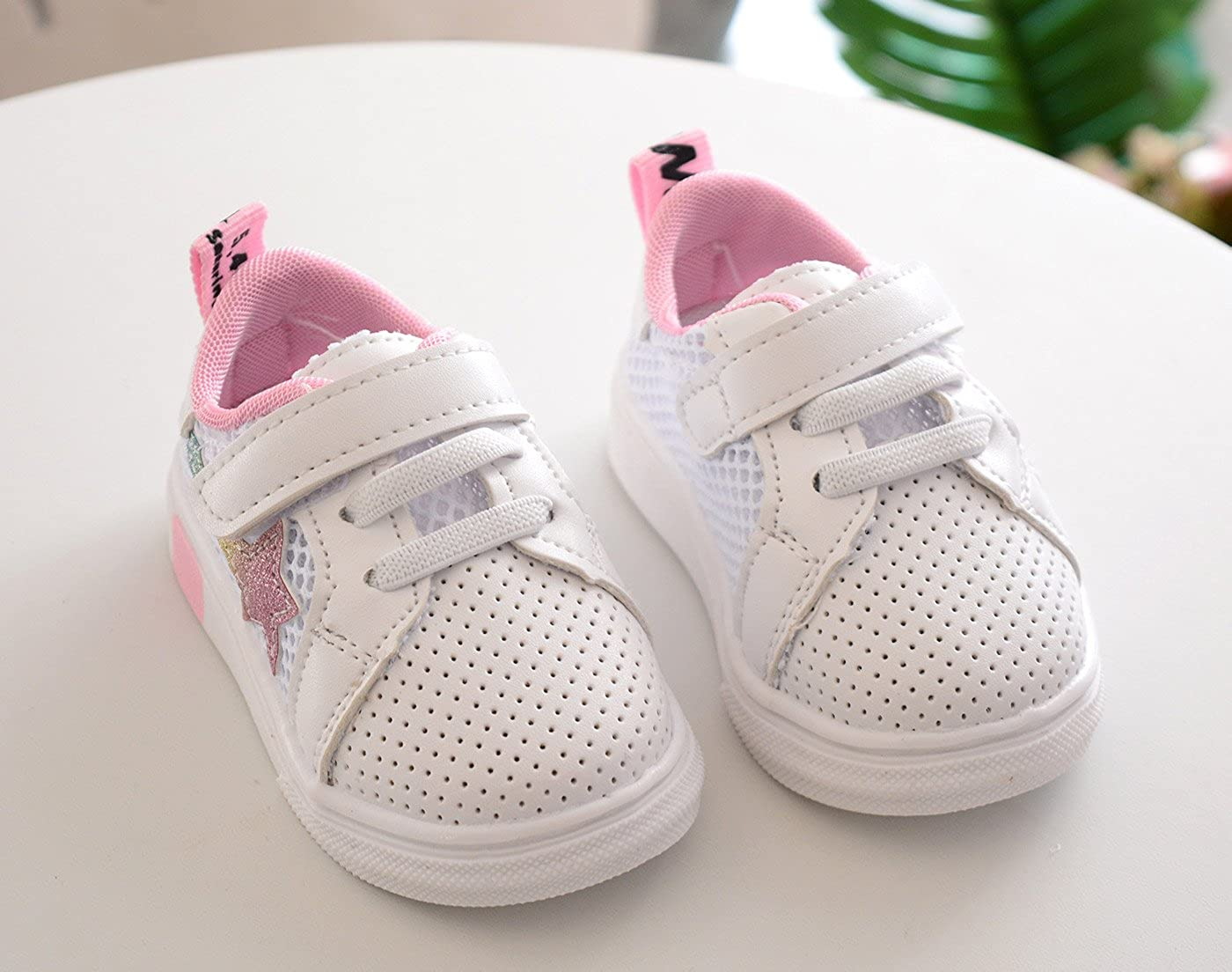 Happy Cherry Toddler Anti-Slip Star Sneaker Mesh Sport Shoes Casual Outdoor Pre-Walker Shoes