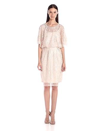 Brianna Women's Blouson Kaftan Sleeve Beaded Dress at Amazon Women's