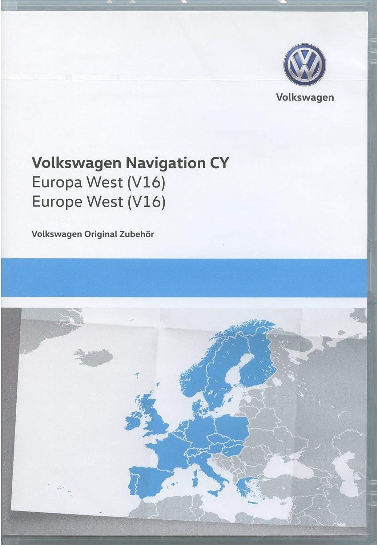 Volkswagen 1T0051859AQ DVD-ROM de navegación Original V16, Europa Occidental, RNS 510/810, Sistema de navegación CY, Software de navegación Volkswagen, actualizado: Amazon.es: Electrónica