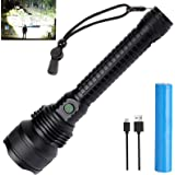 Rechargeable LED Flashlights High Lumens, 90000 Lumens Super Bright Tactical Flashlights with 5 Lighting Modes 18650 Battery