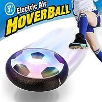 Pallone da Calcio da Casa Fluttuante – Seekool Air Hover Ball Calcio da Interno con LED Luce, Giocattoli Sportivi per Bambini Natale Regalo, Football Gioco Indoor & Outdoor Air Power Soccer Disco