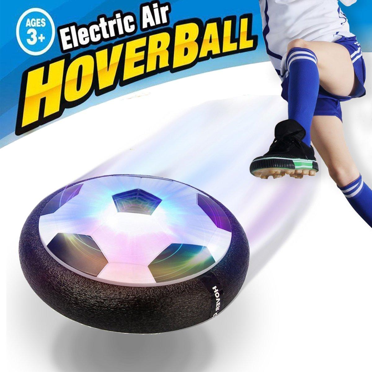 SeeKool Juguete Balón de Fútbol Flotante Air Soccer Ball con Luces LED, Air Football Hover Ball con Parachoques de Espuma, Formación Fútbol en Casa, Niños Niñas Deportes Juguetes Formación Fútbol en Casa