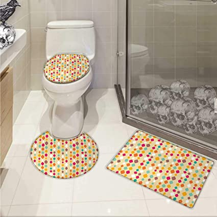 Amazon Com Sinoval Beige Bathroom Toilet Mat Set Vertical