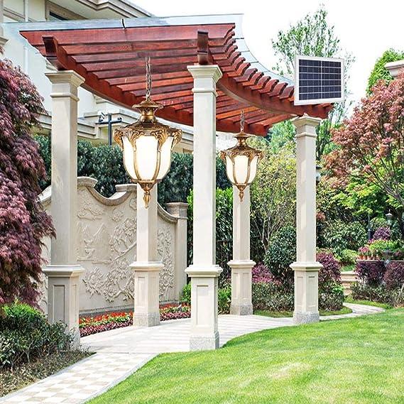 LJF lámpara Luces Colgantes Araña Solar, al Aire Libre, jardín ...