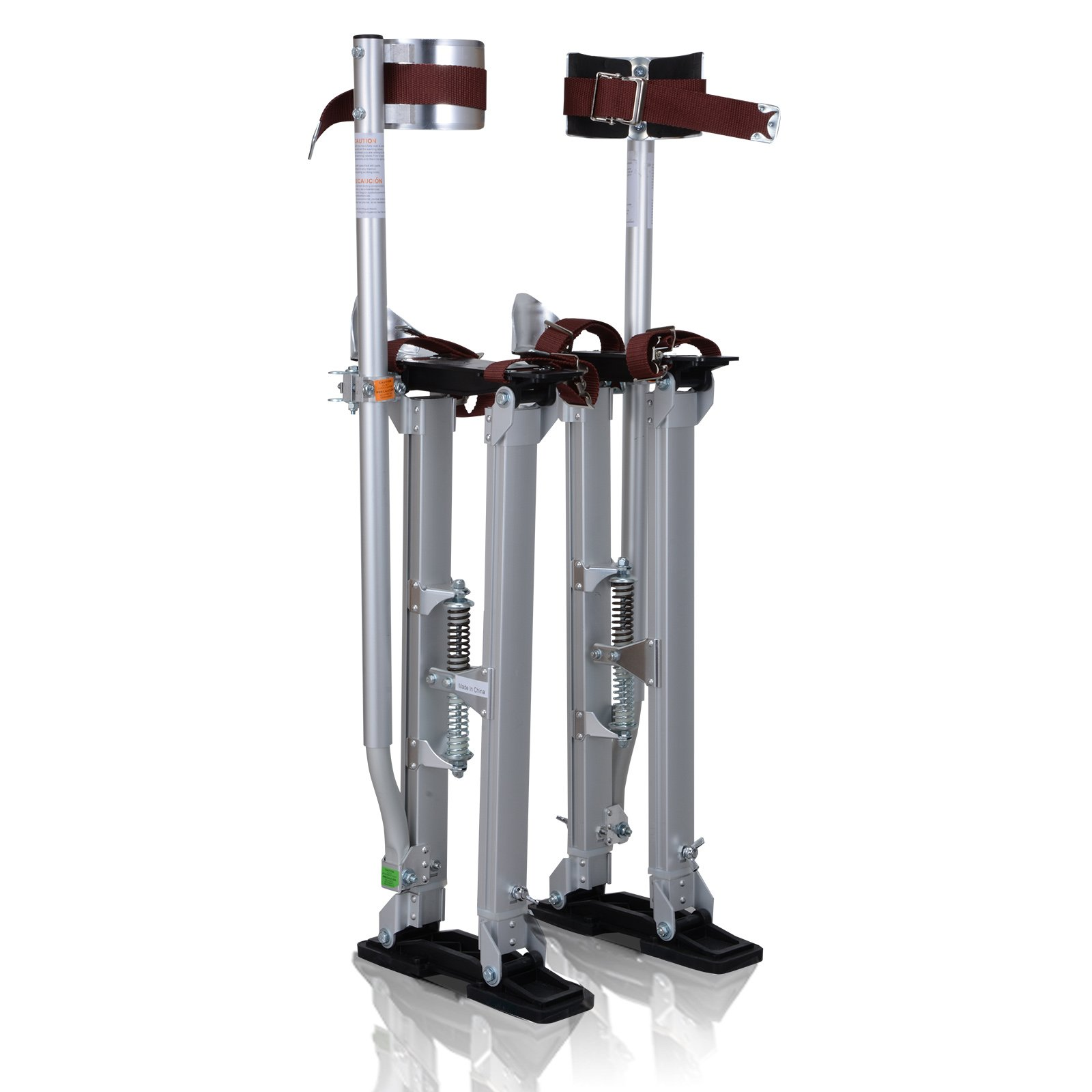 Voilamart Drywall Stilts 24''-40'' Adjustable Aluminum Painting Stilts Lifts Tool for Painter Taping Cleaning Ceiling Finishing - Silver