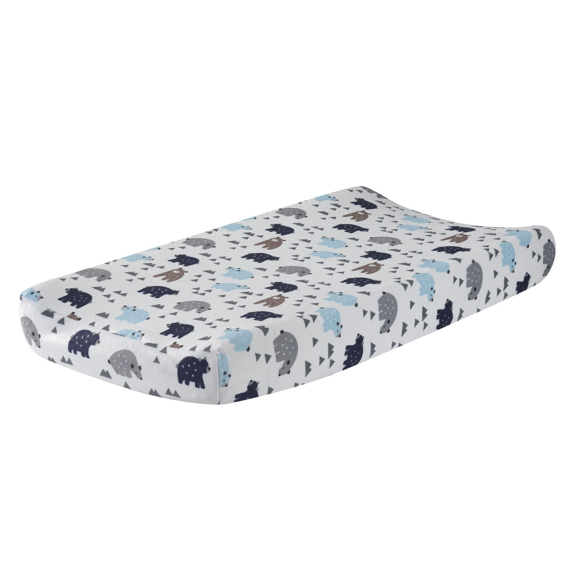 Lambs & Ivy Signature Montana Blue/Gray/Brown Bear Changing Pad Cover by Lambs & Ivy