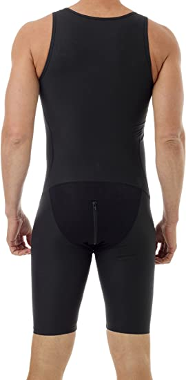 Underworks Mens Compression Bodysuit Girdle Shirt 3-Pack