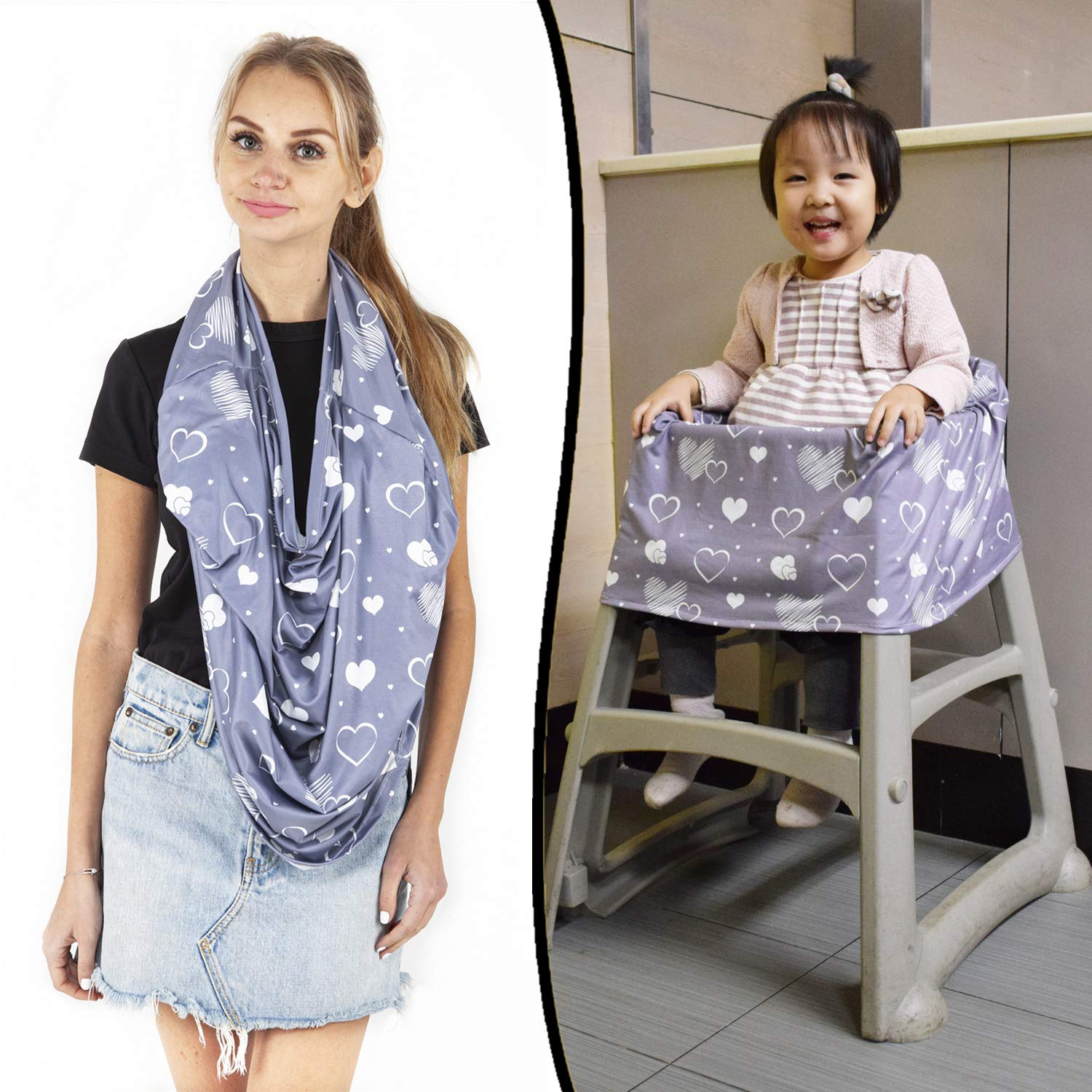 Multi use Baby Car seat Cover for Girls and Boys Nursing Breastfeeding Cover