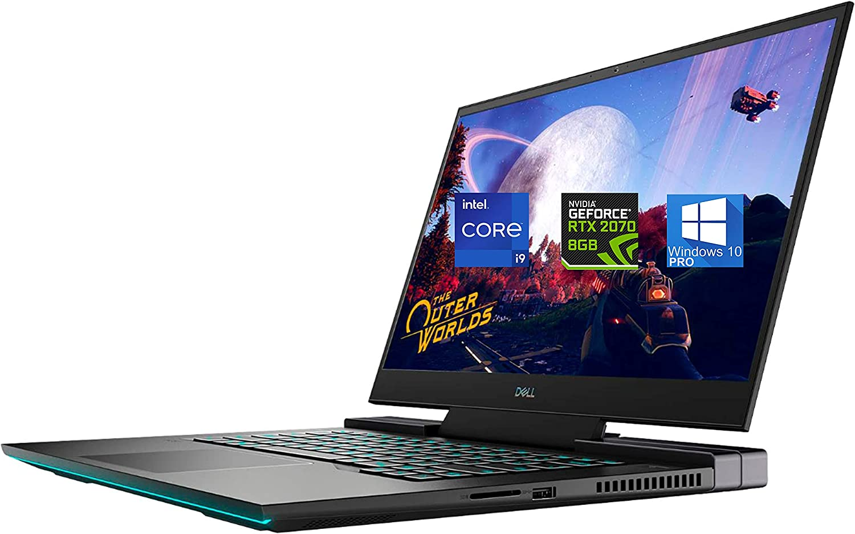 "Dell G7 15 7500 Gaming Laptop 15.6"" - Intel I9-10885H - 64GB RAM, 2TB NVMe SSD – NVIDIA GeForce GTX 2070 8GB 4K, Type-C DisplayPort, HDMI, AX Wi-Fi, Bluetooth, SD Card - Windows 10 Pro"