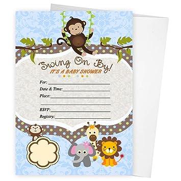 Amazon Com Swinging Safari Monkey Zoo Baby Shower Birthday Party