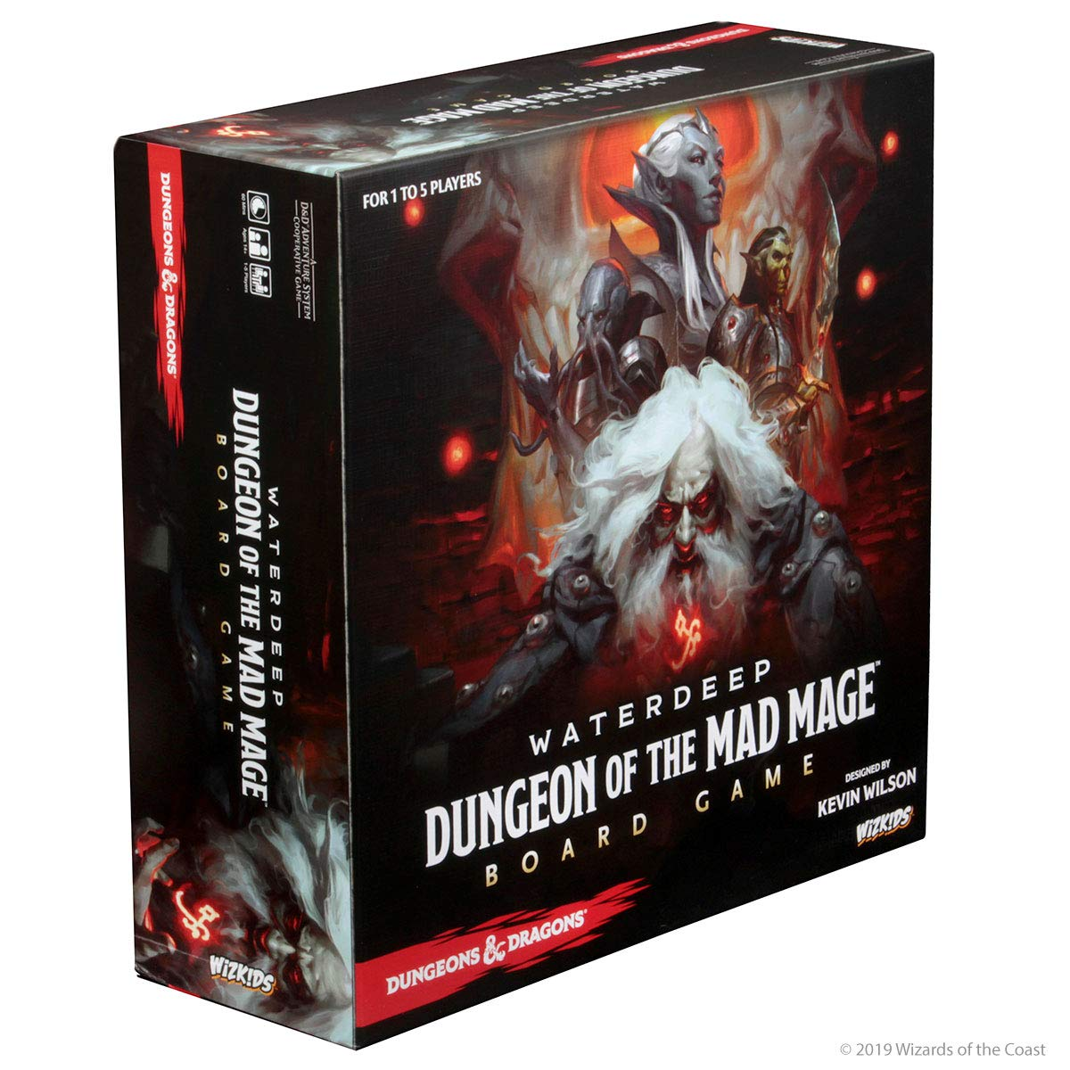WizKids 73591 Dungeons and Dragons Waterdeep: Dungeon of The Mad Mage Adventure System Board Toy (Premium Edition)