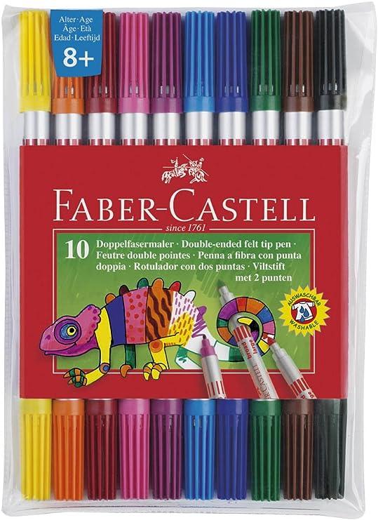 151109 Faber Castell Filzstift 10 Neon Doppelfasermaler Malstifte Fasermaler