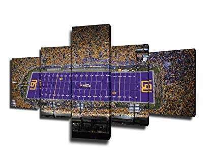 Wall Art For Living Room Tiger Stadium LSU Paintings American Football Pictures 40 Piece Canvas Modern Artwork Home Decor Giclee Wooden Framed Amazing Lsu Bedroom Style Painting