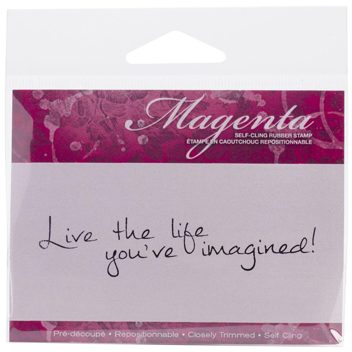 perfecto Magenta Sellos Cling, 1 por 3,25 pulgadas, Live The Life Life Life You've.  100% garantía genuina de contador