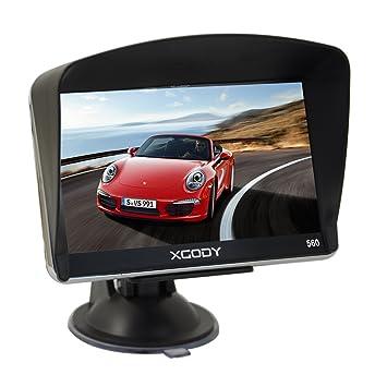 XGODY 504 portátil coche GPS navegación 5 pulgadas Sat Nav pantalla táctil integrado 8 GB RAM