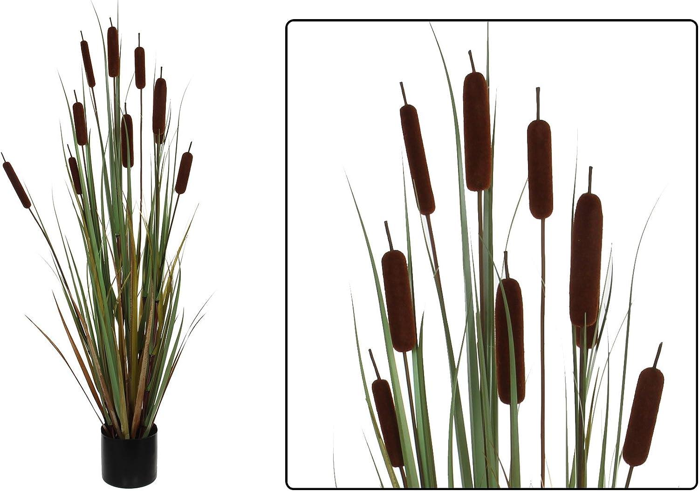Amazon De Kunstpflanze Schilf 120 Cm Deko Ziergras Schilfgras Mit