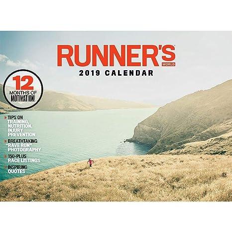 Running Calendar 2019 Amazon.: Runner's World Passion Planner Wall Calendar 2019, 12