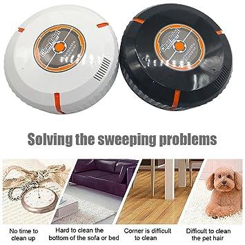 dinglong inteligente robot aspirador recargable automático limpiador de piso aspiradora purificador de aire - Barredora de bajo ruido (negro/blanco cuarto ...