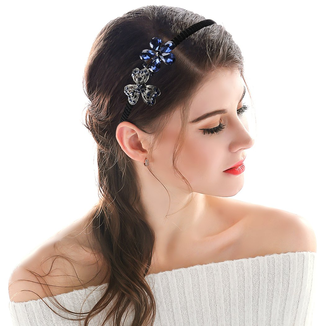 057020e3c84 Amazon.com   Chicer Crystal Floral Flower Headbands Accessories ...