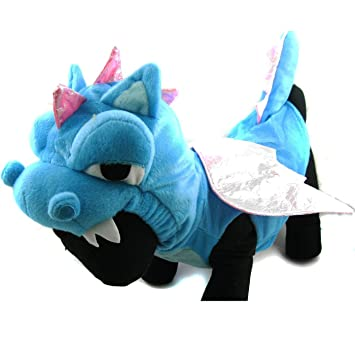 Amazon.com : OSPet Funny Soft Pet Costume Cute Adorable Dragon Jumpsuit, Halloween and Christmas Gift for Cat and Dog : Pet Supplies