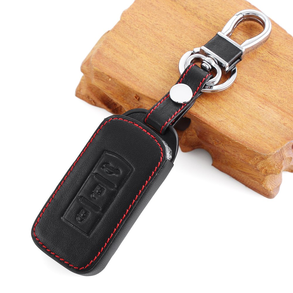 Leather Car Styling Auto Remote Key Cover Case Holder