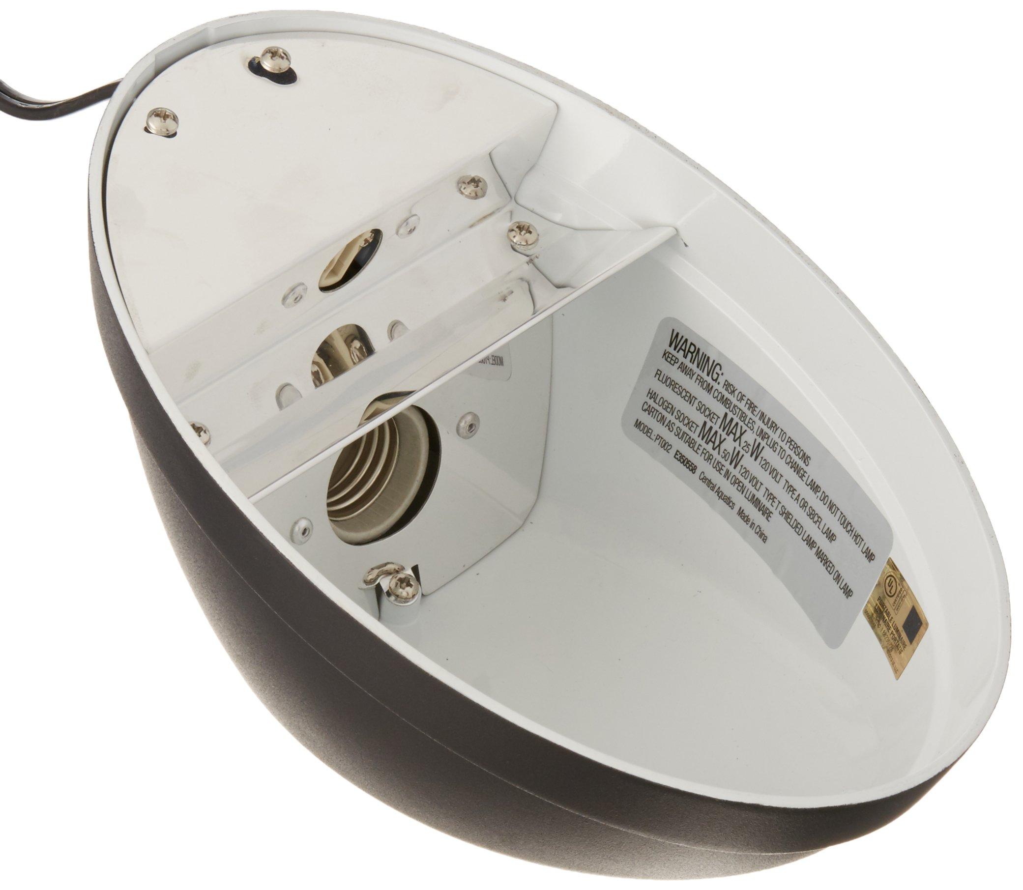 Zilla Reptile Terrarium Heat Lamps, Mini Halogen & UVB Combo Fixture by Zilla (Image #2)