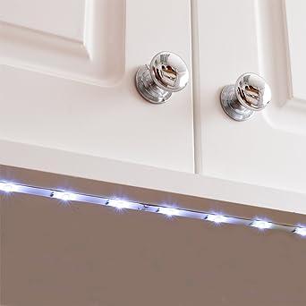 bajo armario luces led flexible tira de cocina gabinete luz