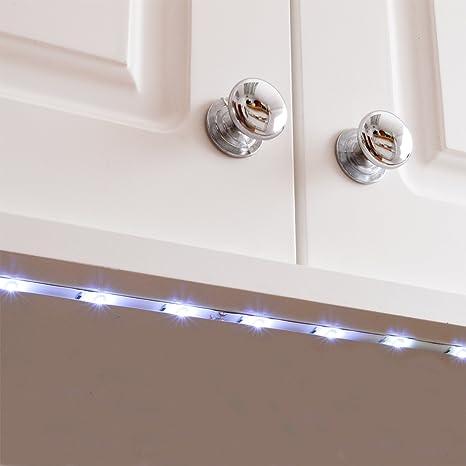 Bajo Armario Luces LED flexible tira de Cocina 18 Gabinete luz auto ...