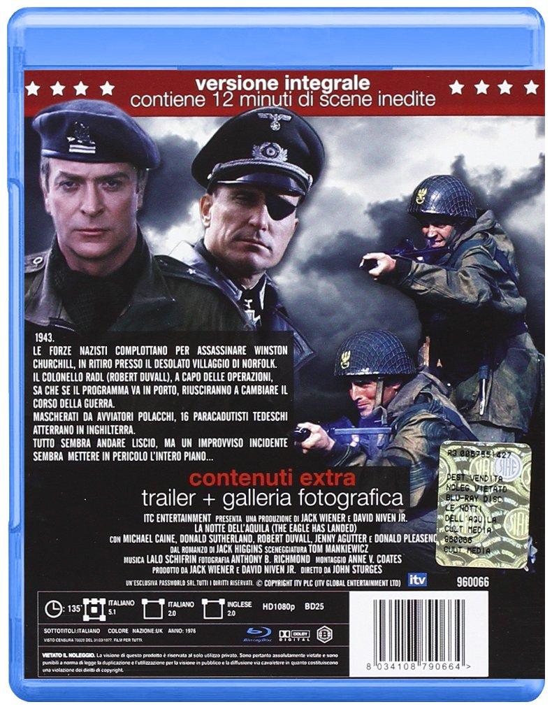 Amazon Com La Notte Dell Aquila Blu Ray Blu Ray Italian Import Michael Caine Robert Duvall John Sturges Movies Tv