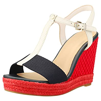 42c64080a6b0 Tommy Hilfiger Iconic Elena Pop Color Wedge Womens Sandals  Amazon.co.uk   Shoes   Bags