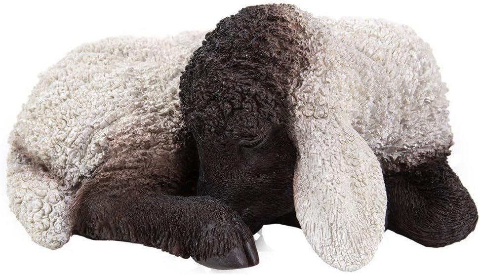 XRL-BSLL-D Farm Pet Pals schlafendes Lamm Haus oder Garten Dekoration Vivid Arts