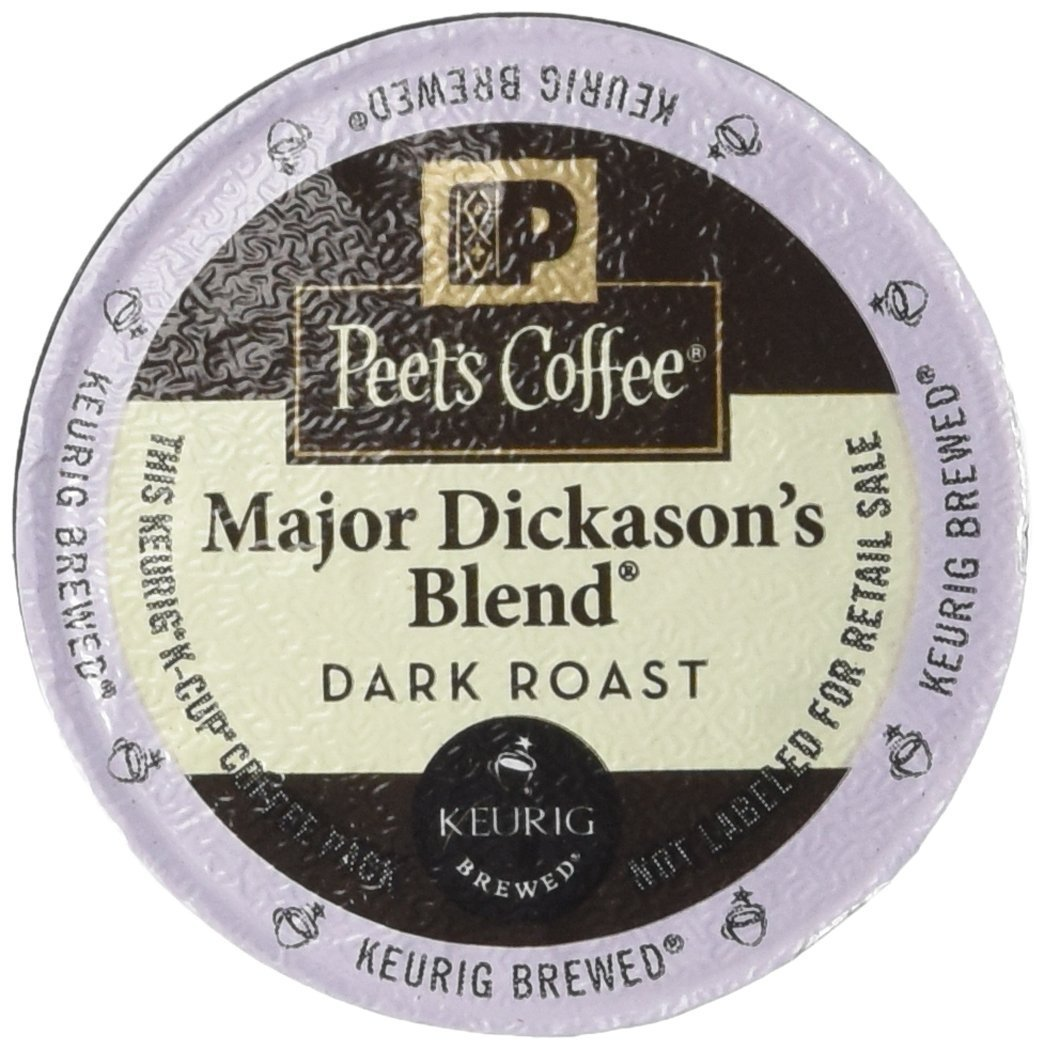 Peet's Coffee Major Dickasons Single Cup Capsule, 96-Count (6 boxes of 16 count each) by Peet's Coffee