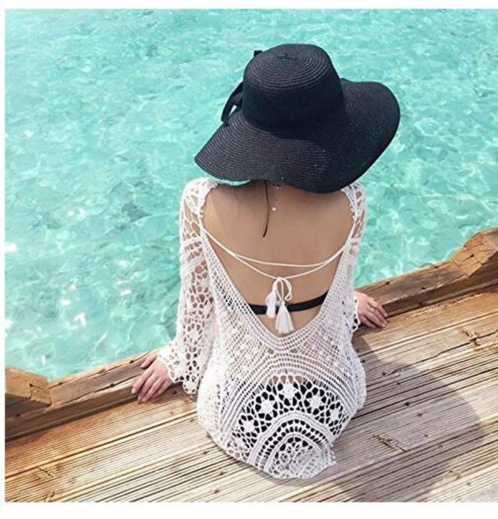 2ca7f431dff1 Jeasona Women s Bathing Suit Cover Up Crochet Lace Bikini Swimsuit Dress
