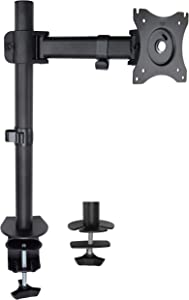 VIVO Single Monitor Fully Adjustable Computer Desk Mount, Articulating Stand for 1 LCD Screen up to 32 inches (STAND-V001E)