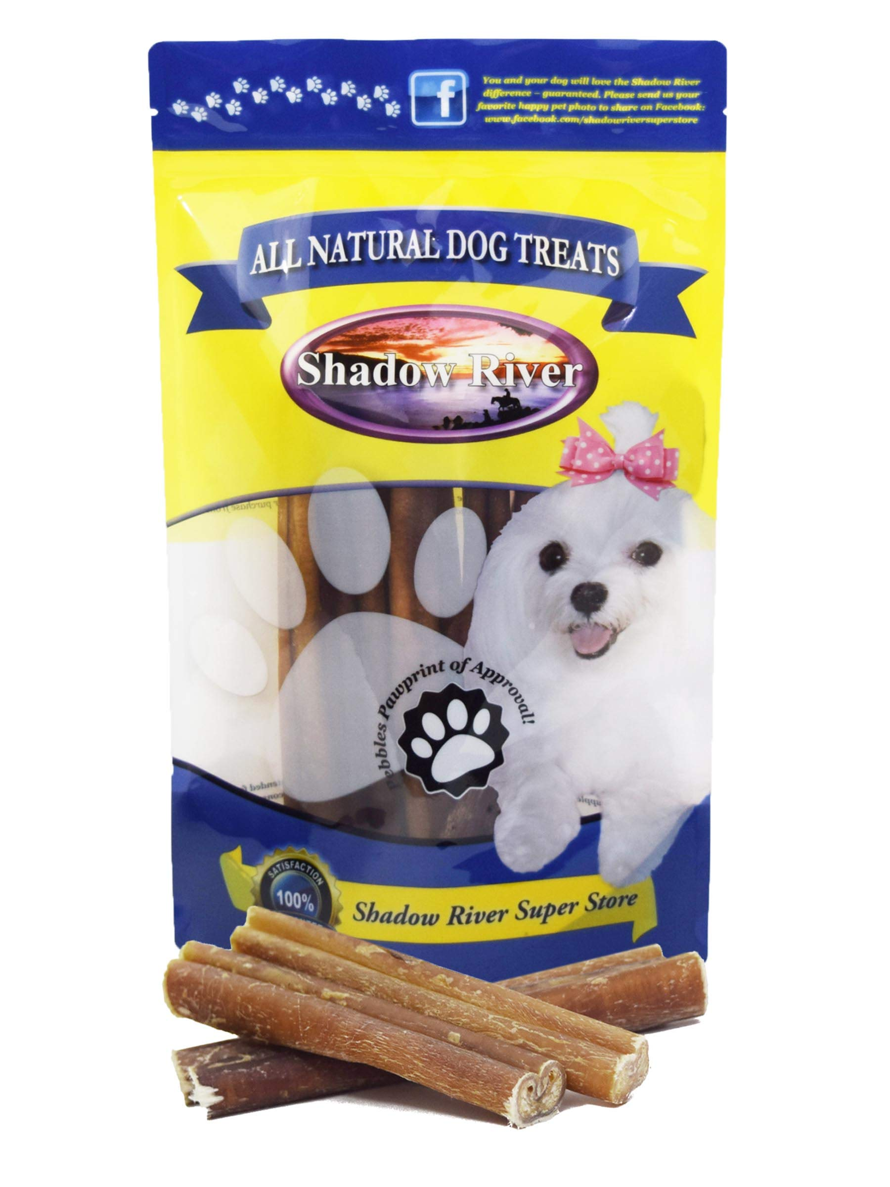 Shadow River 25 Pack 6 Inch Jumbo All Natural Premium Beef Bully Sticks for Dogs