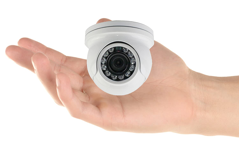 HDView Mini Eyeball 2.4MP 4-in-1 HD (TVI/AHD/CVI/960H) SONY Sensor Turbo Platinum IR Dome Camera 3.6mm Lens Megapixel 1080P Door Frame