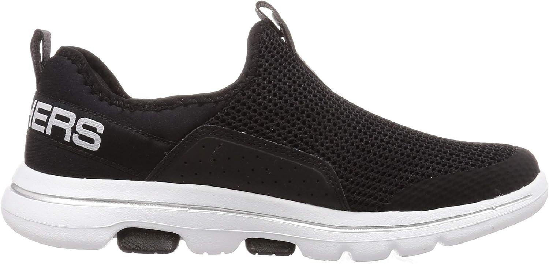 Skechers 5-124013 Go Walk Baskets pour femme Noir Blanc